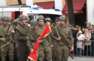 Водружение знамени Победы в Смоленске. ВИДЕО