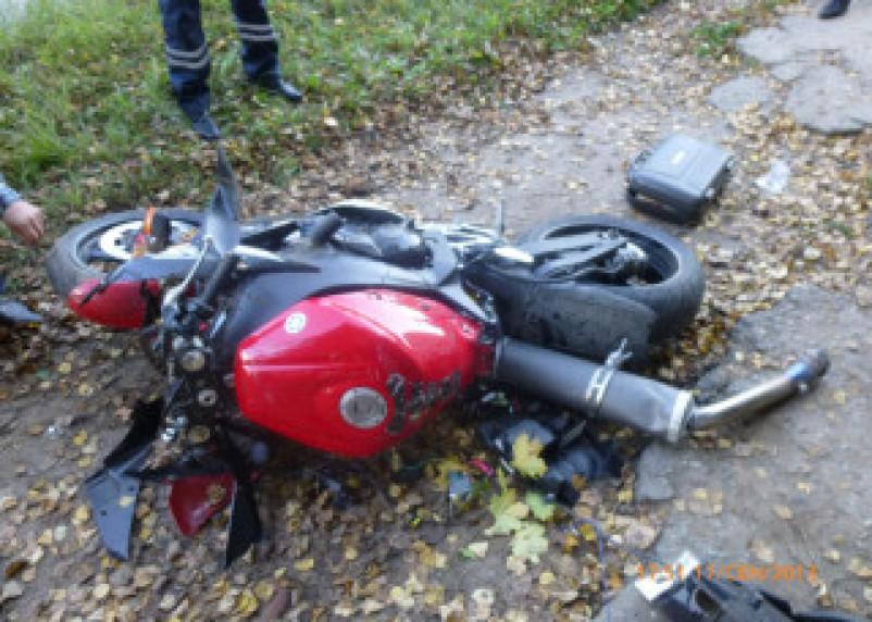 В Ярцево Смоленской области погиб мотоциклист