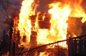 В Краснинском районе при пожаре погиб мужчина