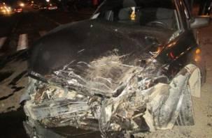 В ДТП в центре Смоленска пострадал водитель