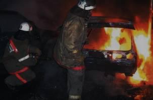 В Рославле сгорели три автомобиля