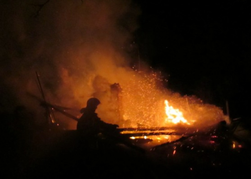 В Сафоновском районе сгорел дом