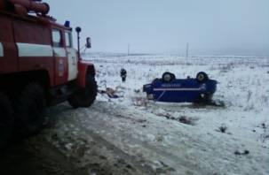 Ледяной дождь в Смоленской области привел к серии ДТП