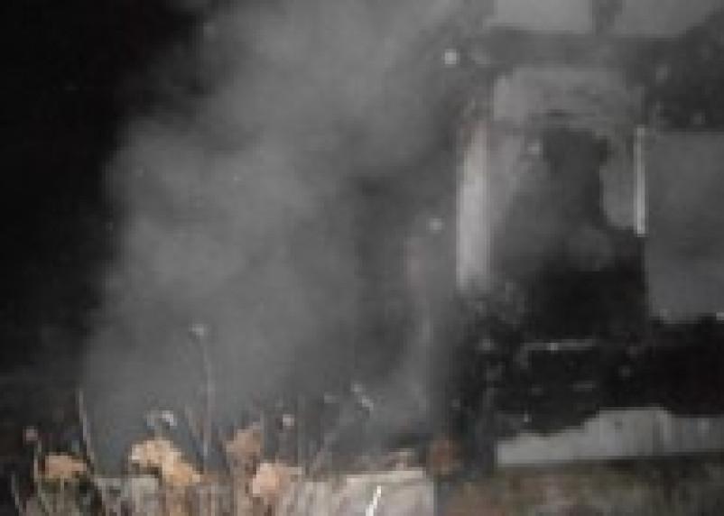 В Рославльском районе при пожаре погиб человек