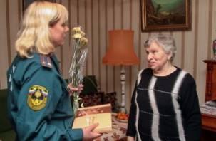 Смолянке вручена медаль МЧС России
