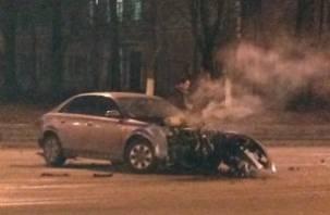 Водитель пострадал в результате ДТП на проспекте Гагарина