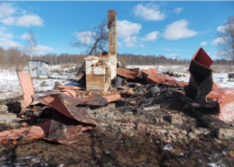 В Кардымовском районе при пожаре погиб человек