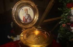 На Смоленщину прибыл ковчег с мощами св. Николая Чудотворца