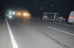 На трассе Москва-Минск грузовик протаранил микроавтобус с пассажирами