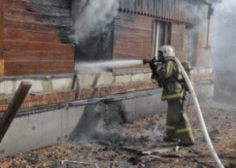 В Ершичах при пожаре сгорел человек