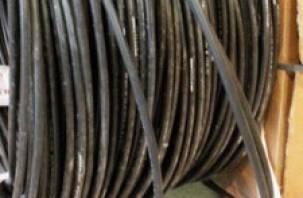 В поселке Верхнеднепровский украли 600 метров кабеля