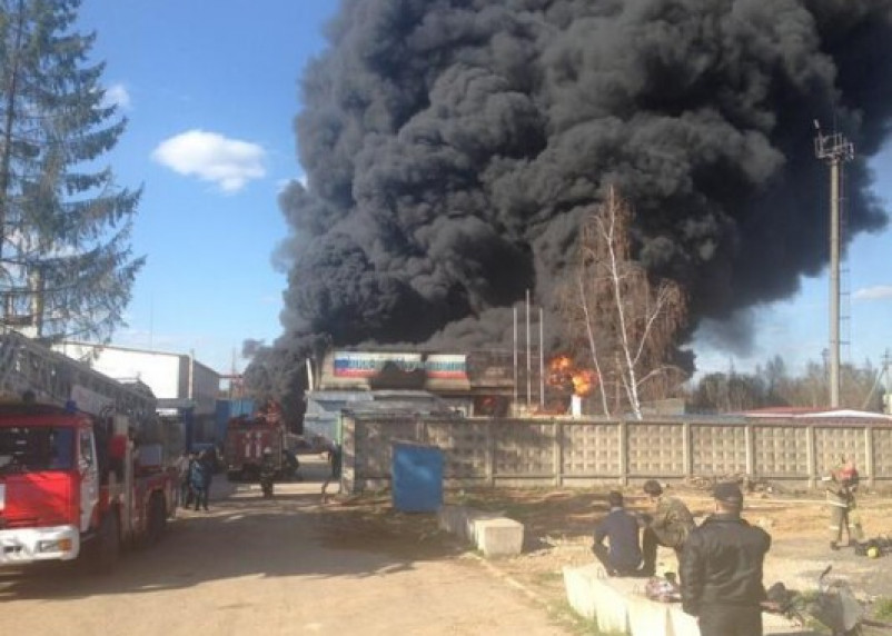 В Ярцеве произошел пожар на заводе «Теплоизоплит»