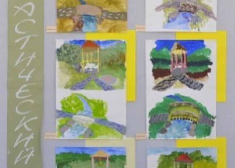 Выставка детских рисунков «Фантастический сад» ждет посетителей
