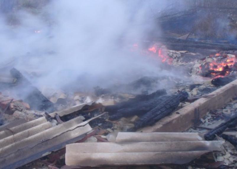 Пожар в Сафонове