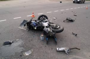 Очередная авария с участием мотоциклиста произошла в Смоленске