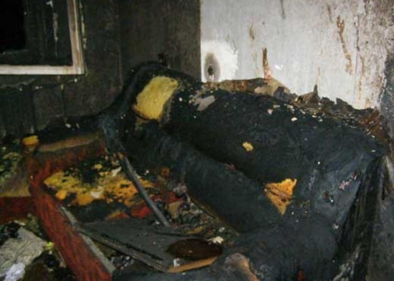 В поселке Озерный в результате пожара погиб человек