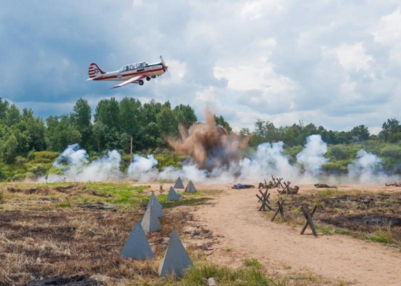 На Соловьевой переправе реконструировали войну