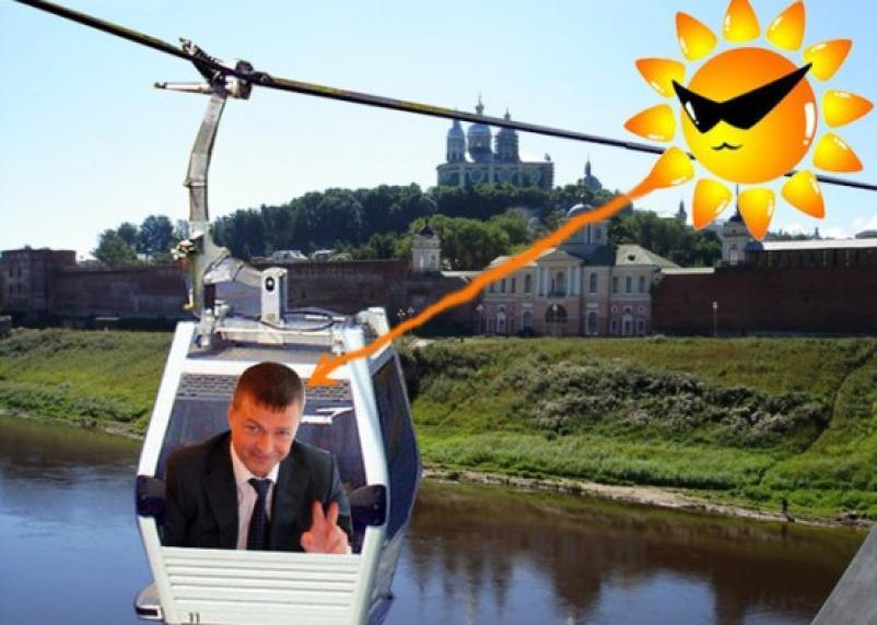 Жара и канатная дорога в Смоленске