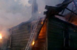 В городе Гагарин при пожаре дома погиб мужчина