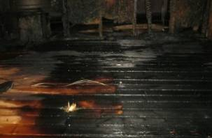 Ночью на Селифоновском кладбище случился пожар