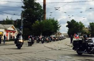 Польские байкеры побывали в Смоленске