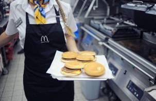 Смоленский «Макдоналдс» ожидает проверка Роспотребнадзора