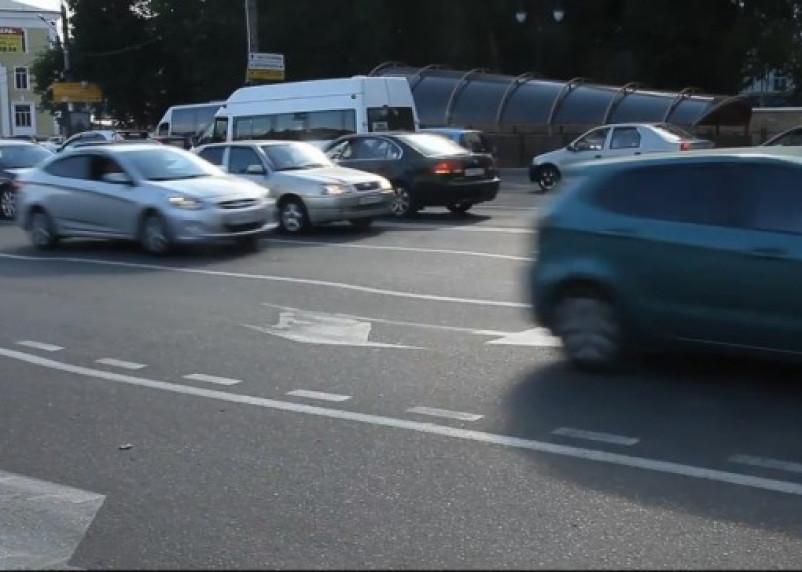 Смоленским автомобилистам опасно ездить в центре города