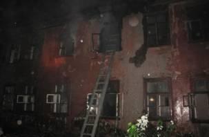 В Смоленске сгорел двухэтажный барак