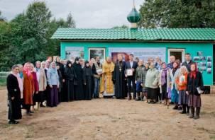 На месте храма Тютчевых в Горенове освятили молитвенный дом