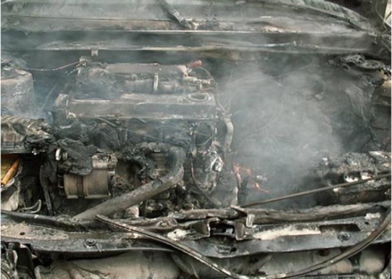Сегодня утром в Смоленске и Рудне горели машины