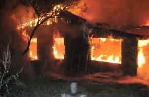 В Починке двое мужчин погибли в огне