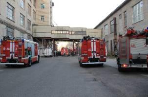 В Смоленске горело крупное предприятие