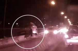 За минувшие выходные в Смоленске произошло два необычных ДТП