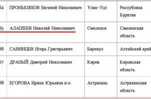 Рейтинг Алашеева по-прежнему низкий