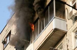В Смоленске в огне погиб мужчина