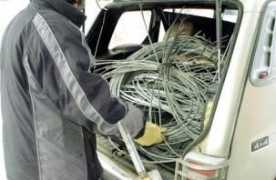 Смолянин украл в Холм-Жирковском районе 300 метров электрокабеля