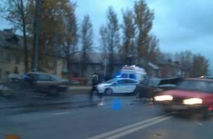 В Смоленске произошло ДТП на ул.Крупской. Есть постадавший