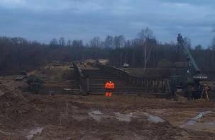 В Велиже заканчивается строительство моста