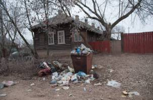 Улицы Сычевки утопают в мусоре
