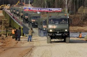 Разборный мост в Велиже официально введен в эксплуатацию