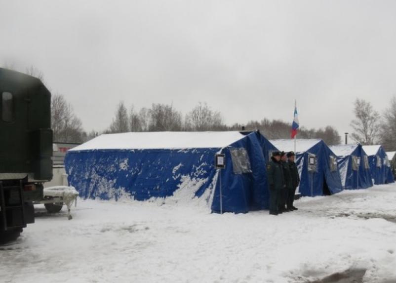 На трассе «Москва-Минск» открыты пункты обогрева водителей