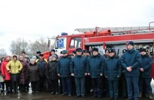В Демидовском районе появилось новое пожарное депо