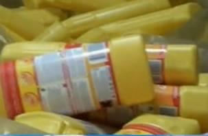 В Смоленске работал цех про производству поддельных чистящих средств