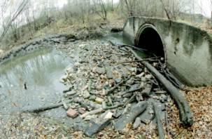 В смоленской глубинке жители платят за очистку сточных вод, которой нет