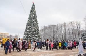 Главная елка Смоленска открылась хороводом