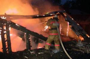 В Шумячском районе сгорела пилорама