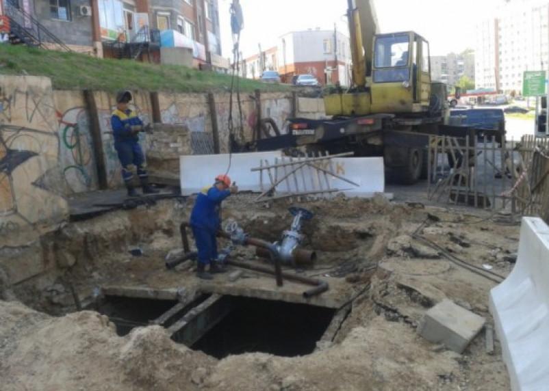 Авария на тепломагистрали в Смоленске ликвидирована