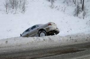 В Смоленской области автомобиль съехал в кювет