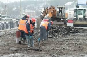 Движение по путепроводу над Новомосковской обещают пустить до окончания работ