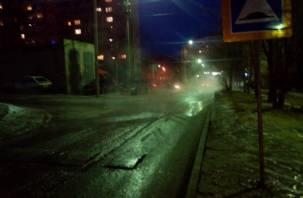 В Заднепровском районе Смоленска прорвало магистральный трубопровод